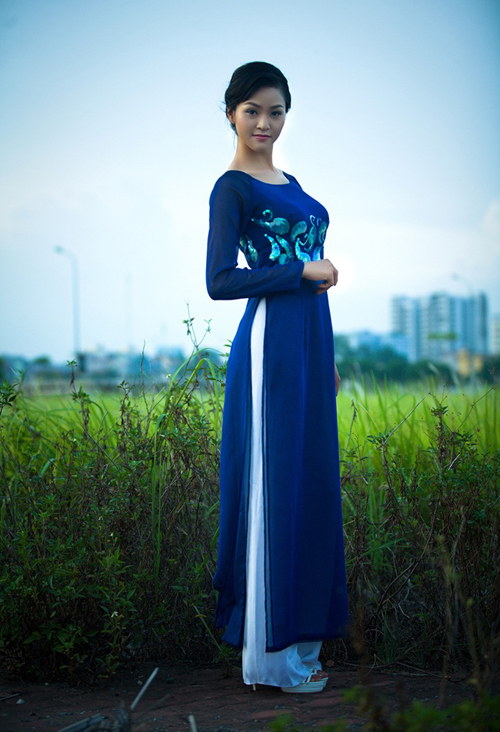 Blue Wedding Ao Dai Traditional Ao Dai :: ...