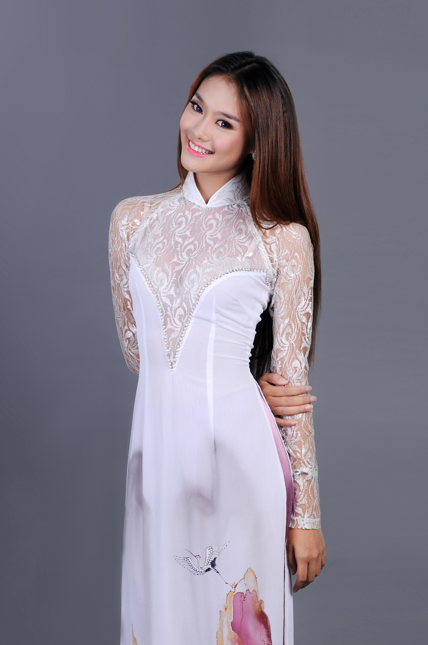 The Gallery For Gt White Ao Dai