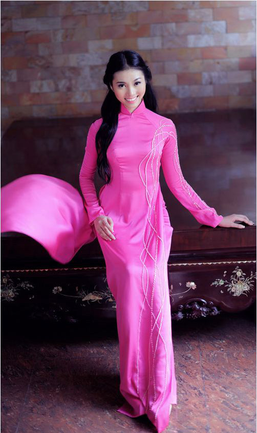 Traditional Ao Dai Pink Pink Traditional Ao Dai